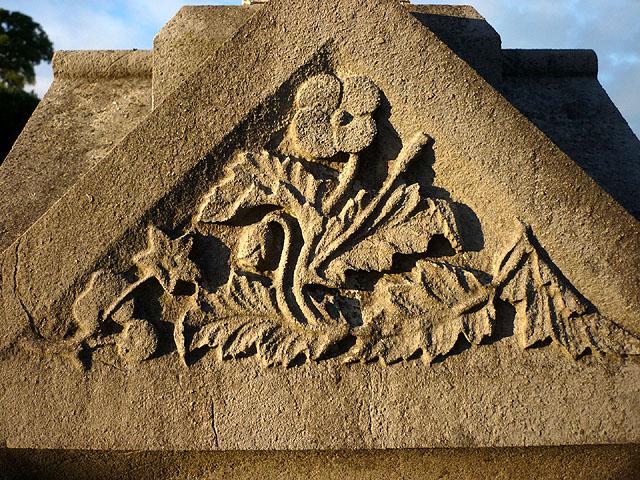 Detail on a monument, Warton graveyard