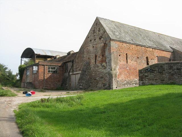 Old brick barn at Hall Farm