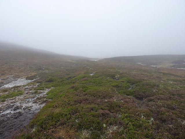 Down the upper reaches of the Allt Coire nan Cisteachan