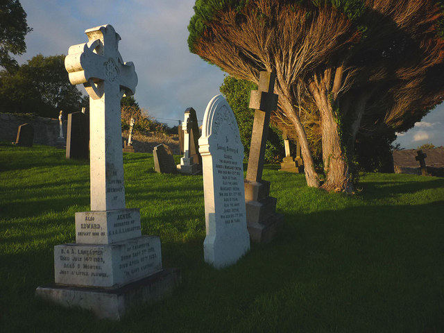 Old headstones, Warton graveyard