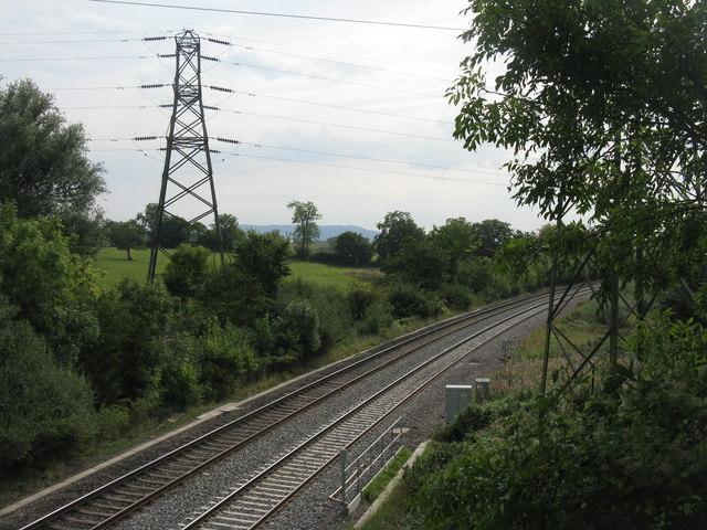 Looking south from Cockshoot Bridge