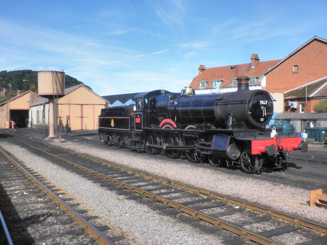 7827 Lydham Manor, on shed at Minehead