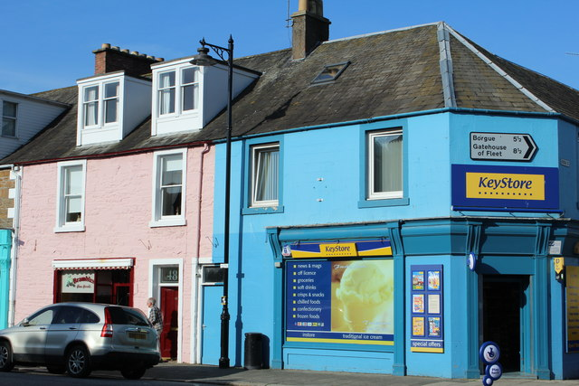 Corner of St Mary Street & Bridge Street, Kirkcudbright