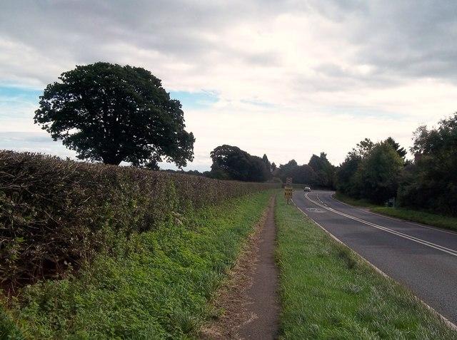 The A52 Road near Ashbourne