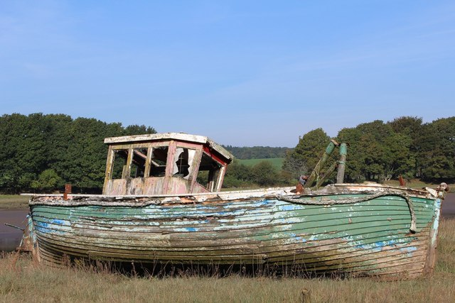 Derelict Boat by River Dee, Kirkcudbright