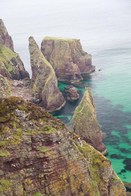 Sea Stacks west of Camas Beag