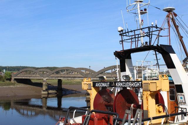 Fishing Vessel, River Dee & Kirkcudbright Bridge