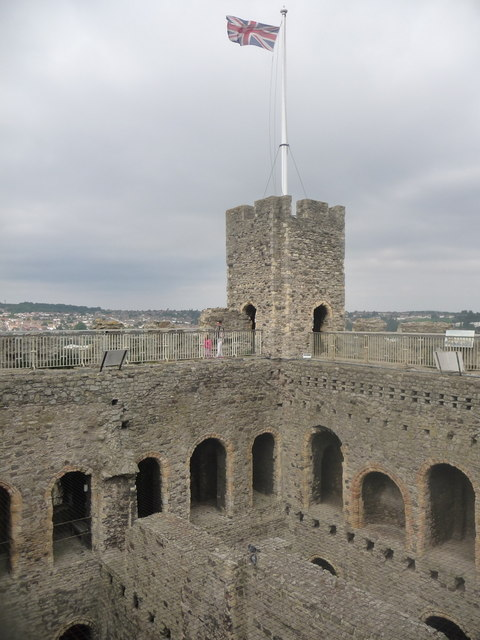 Rochester: Union Jack atop the castle