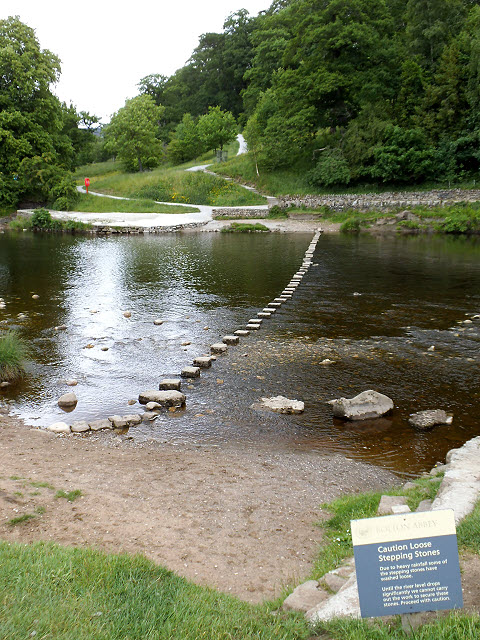Stepping stones at Bolton Priory
