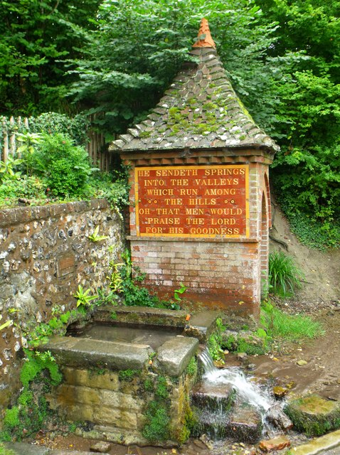 Spring water outlet, Fulking