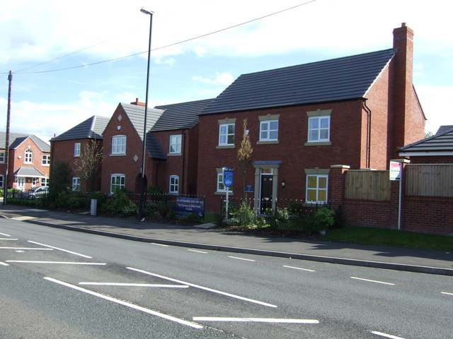 New build housing on Lichfield Road