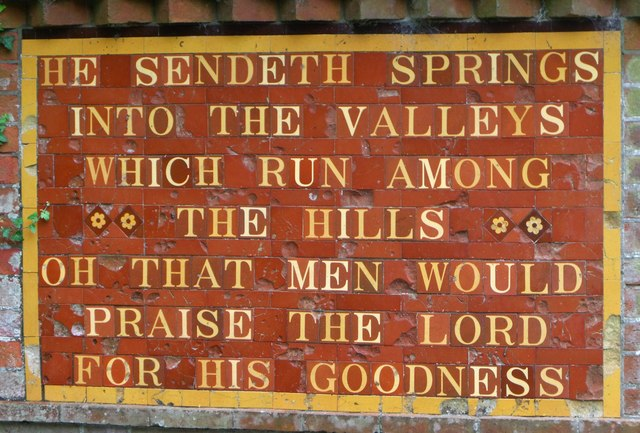 Inscription by spring, Fulking