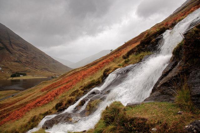 Waterfall in Glen Coe