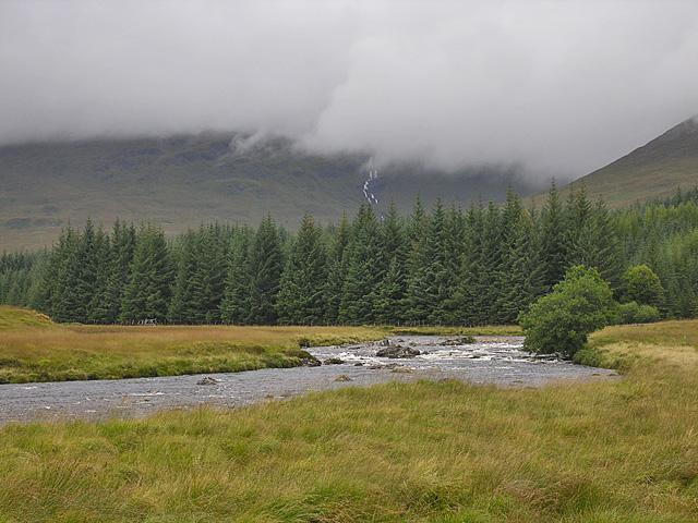 The Abhainn Shira west of Forest Lodge