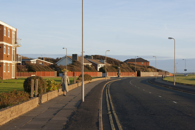 The coastal road at Blundellsands