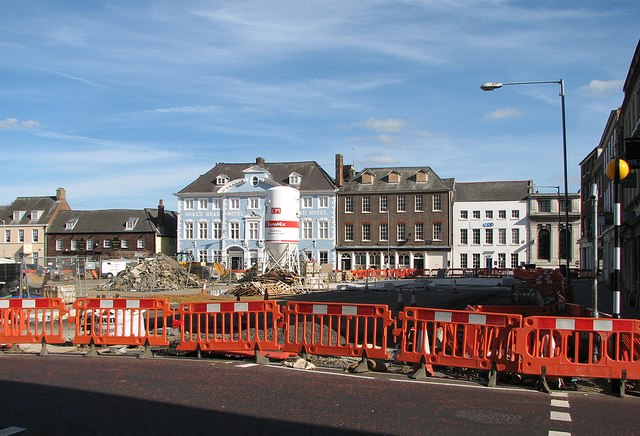 King's Lynn: repaving Tuesday Market Place