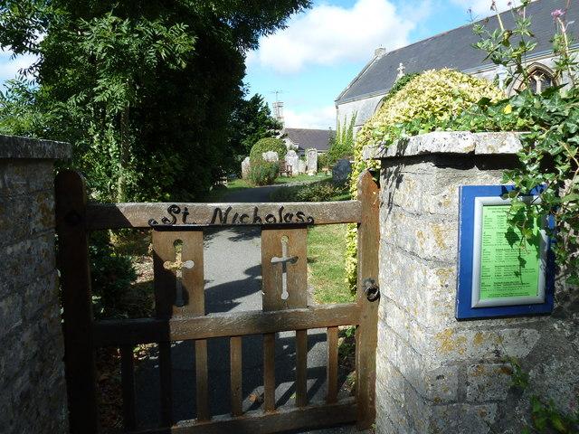 St Nicholas, Broadwey: gate