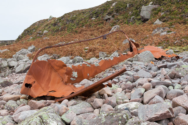 Remains of lifeboat
