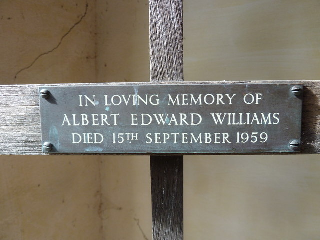 St Nicholas, Broadwey: memorial on the porch gate