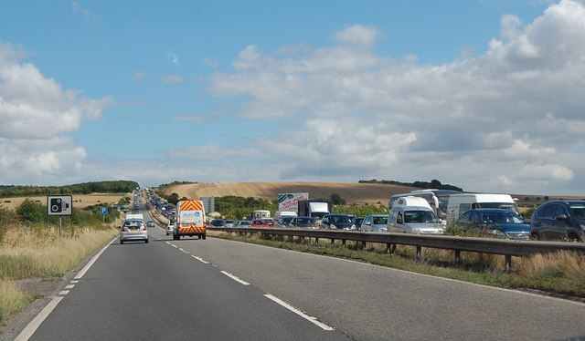 Holiday traffic on the A303