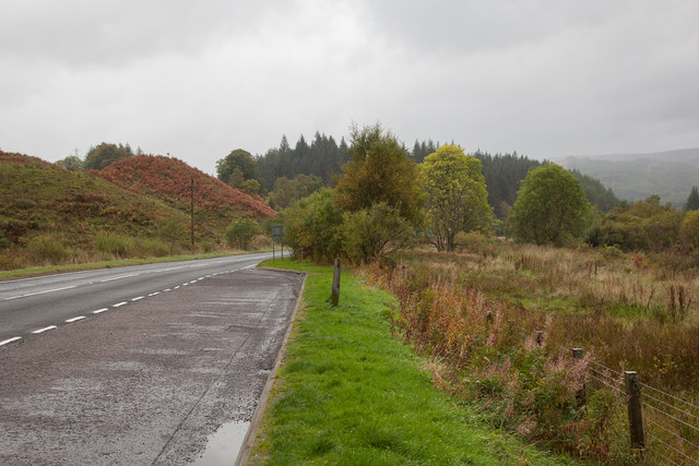 Ground beside the layby on the A85