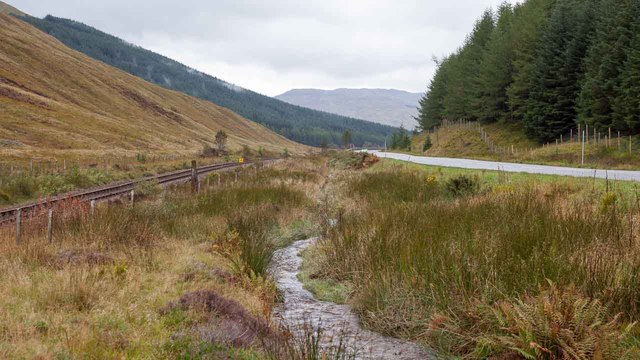 The West Highland Railway Line and the A82