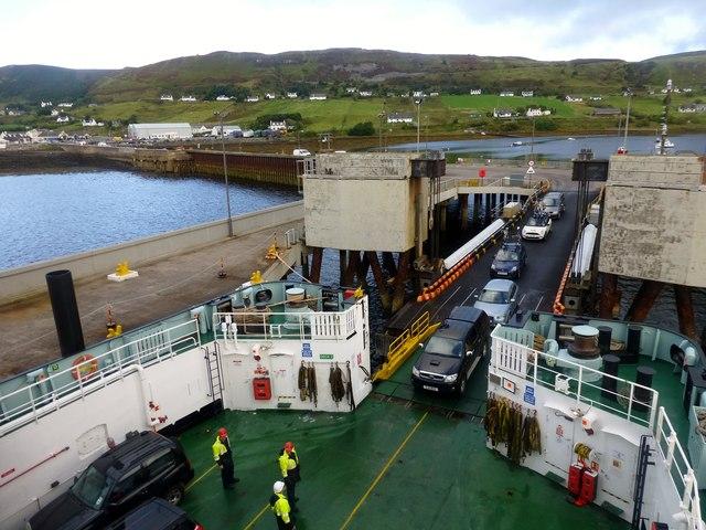 Uig To Tarbert Ferry During Loading