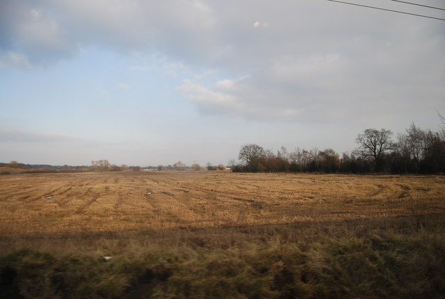 Flat farmland south of Crewe