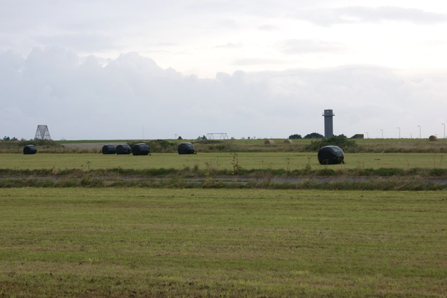 Haylage bales on Brawdy Airfield