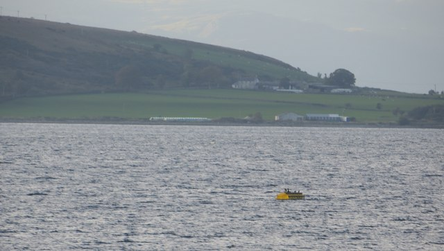 Mooring buoy in Rothesay Sound