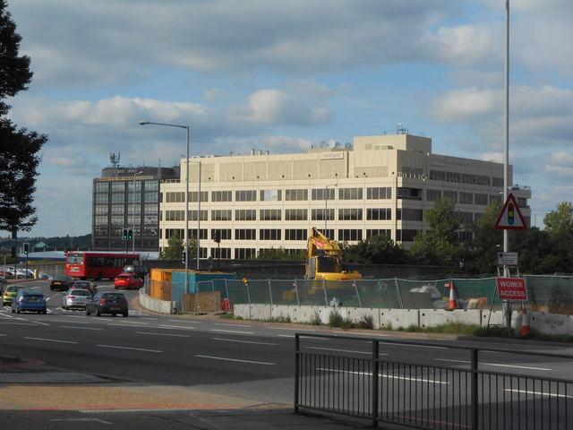 Office buildings west of Hanger Lane