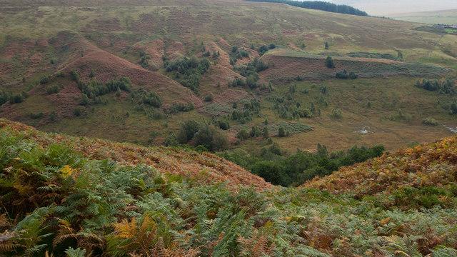View across Glen Roy in Autumn