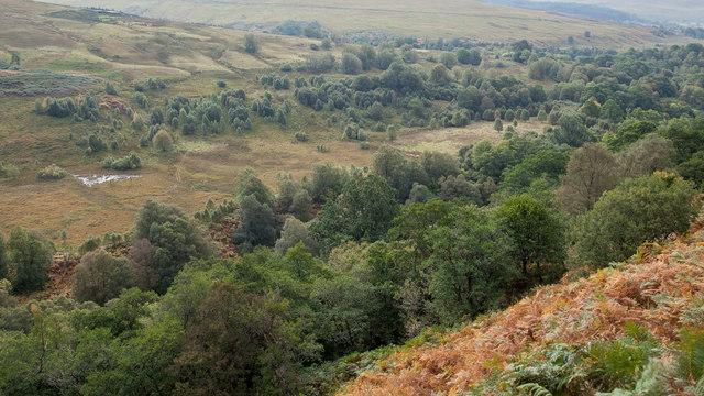 View down Glen Roy towards Cranachan