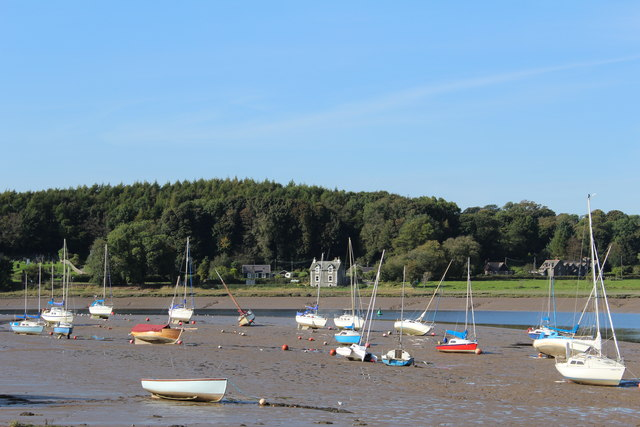 Yachts by River Dee, Kirkcudbright