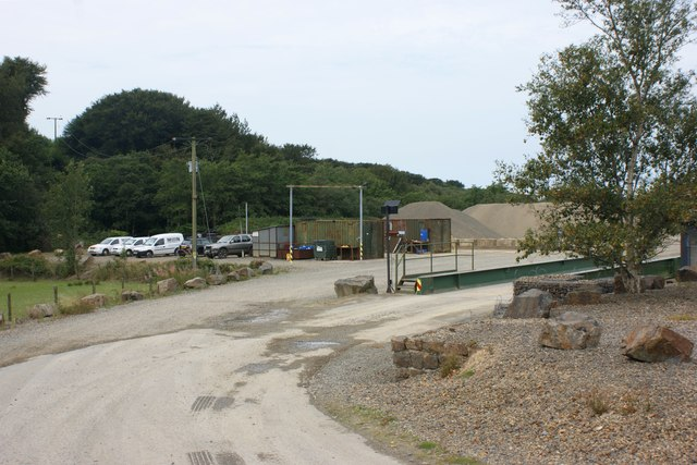 Entrance and weighbridge, Rhyndaston Quarry