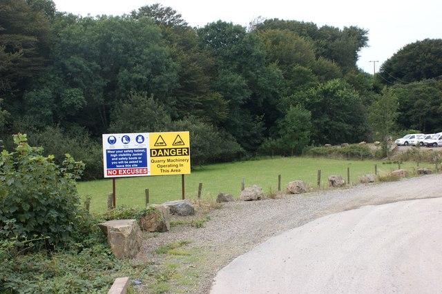 Entrance to Rhyndaston Quarry