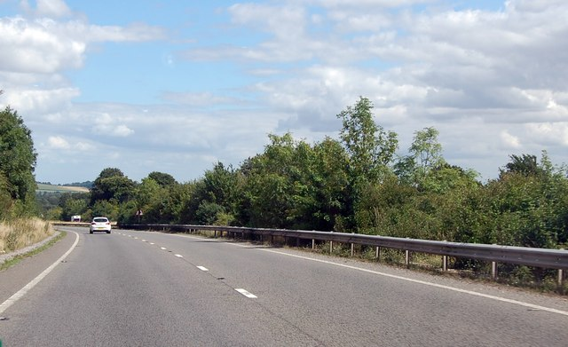 A303 skirting the Managed Access area