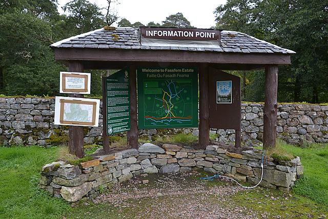Information point, Fassfern car park
