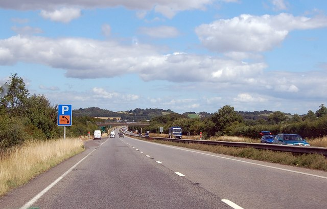 A303 eastbound, parking area
