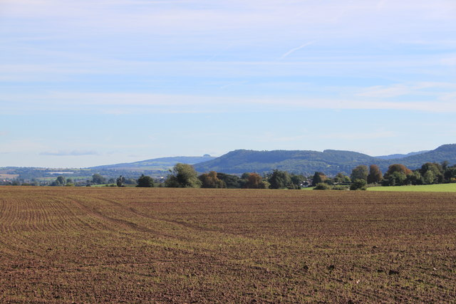 Newly sown arable land at Winter's Cross