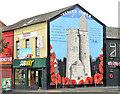 """J3274 : """"Ulster Tower"""" mural, Belfast : Week 41"""