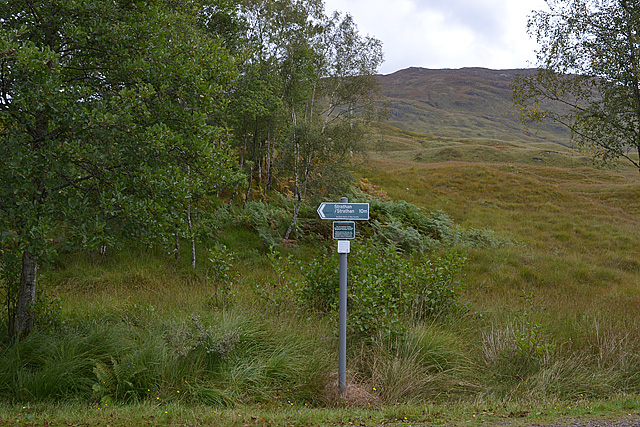 Scottish Rights of Way Society signpost