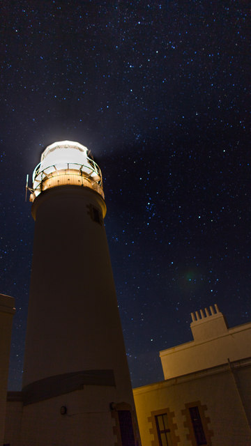 Light pollution at Rubha Rèidh