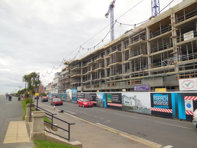 Apartments under construction, Worthing