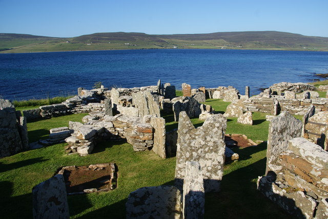 Outbuildings at the Broch of Gurness
