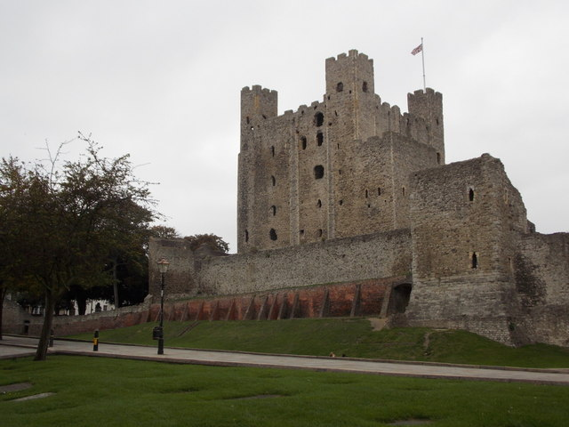 Rochester: the castle from the east