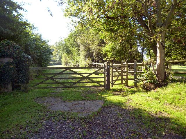 Harps Oak Lane:  Kissing gate and footpath