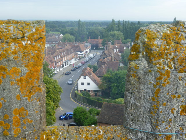 High Street, Biddenden, from the tower of All Saints