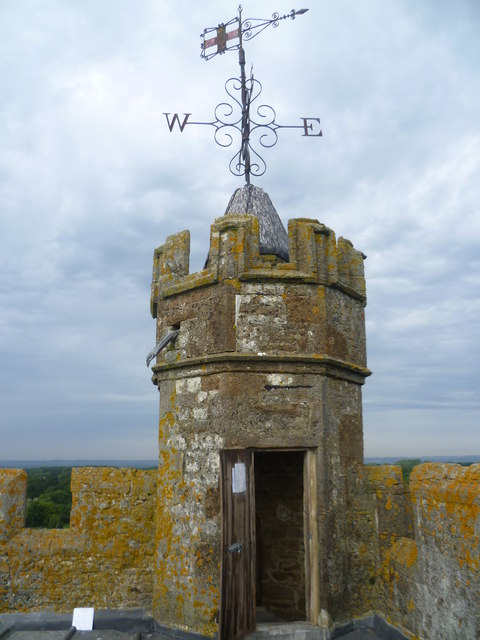 The top of the tower at All Saints Church, Biddenden