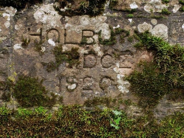 Inscription on Holburn Bridge